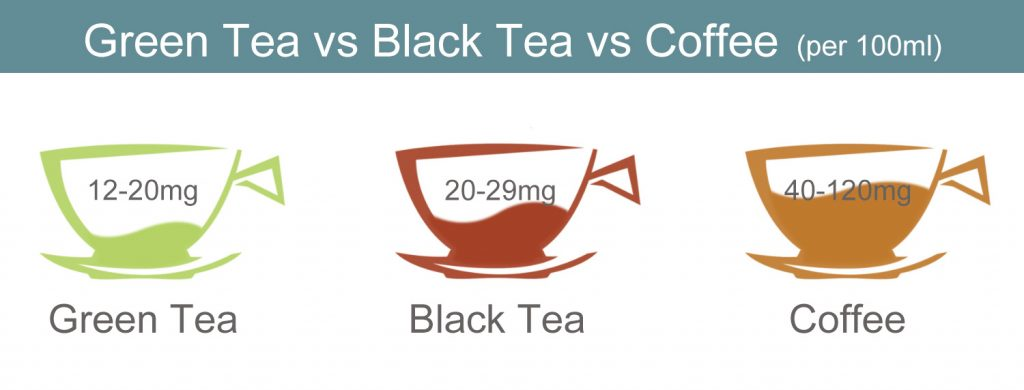 Green Tea vs Black Tea vs Coffee